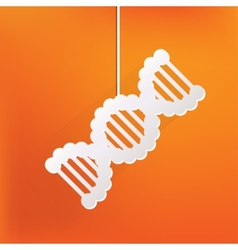 Dna iconmedical symbol vector