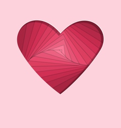 Hand-made paper folding heart isolated on pink vector