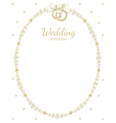 Wedding jewel frame vector