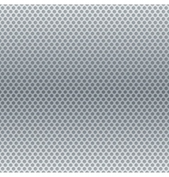 Silver metallic round grid background vector