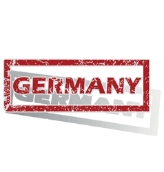 Germany outlined stamp vector
