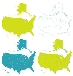 Map of usa set vector