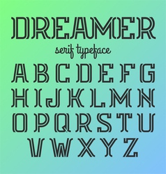Modern serif typeface vector