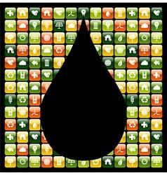 Water drop green phone apps vector