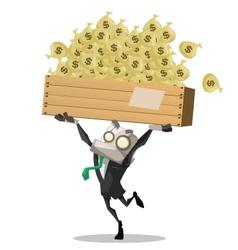 Businessman carry money vector