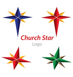 Church star logo vector