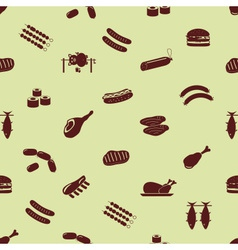 Meat food icons and symbols seamless pattern eps10 vector