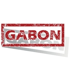 Gabon outlined stamp vector