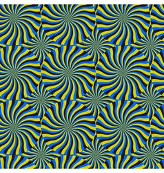 Optical spin cycle seamless pattern vector
