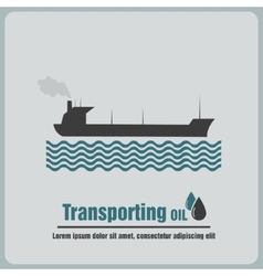 Icon oil barge vector