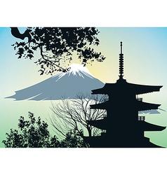 Japanese gate torii vector