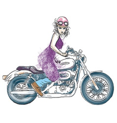 Biker - woman vector