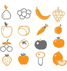 Vegetables  fruit signs vector