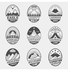 Mountain badge set2 vector