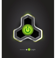 Futuristic power button vector