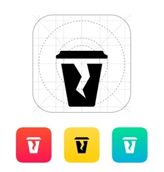 Damaged cup icon vector
