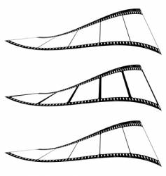 Photo film strip twist vector