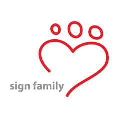 Sign family vector