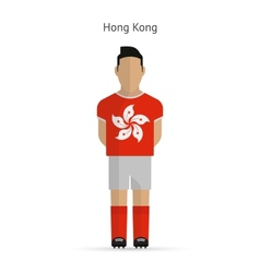 Hong kong football player soccer uniform vector