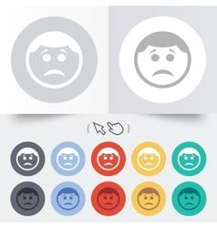 Sad face sign icon sadness symbol vector