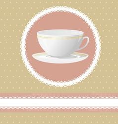 Invitation for tea time vector