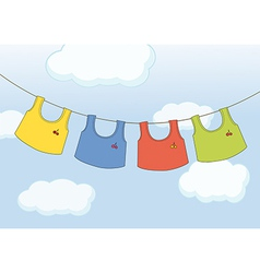 Hanging clothes vector
