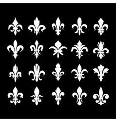 Heraldic symbols fleur de lis vector