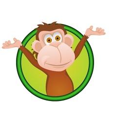 Funny monkey vector