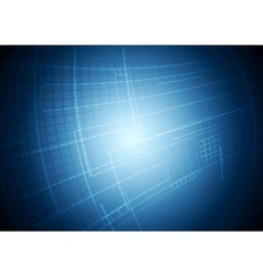 Abstract blue tech motion background vector