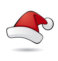 Santa hat vector