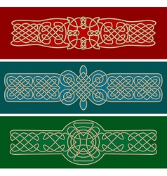 Celtic ornaments and patterns vector