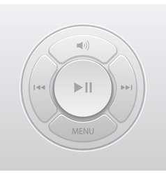 Interface design elements for music player icons vector