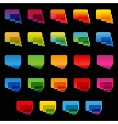 Rainbow colorful transparent rounded rectangle vector