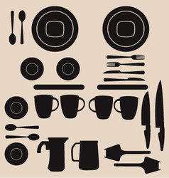 Kitchen utensils and tool icon set vector
