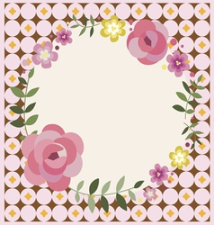 Easter floral greeting card vector