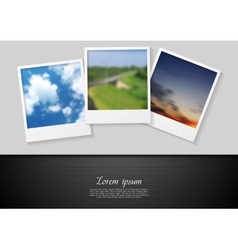 Polaroid photo abstract background vector