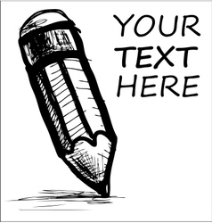 Pencil and sample text vector