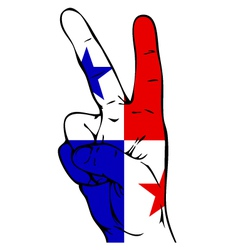 Peace sign of the panamanian flag vector