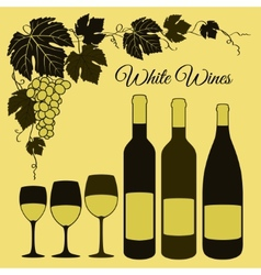 White wine set vector