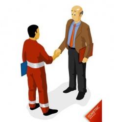 Oil worker agreement vector