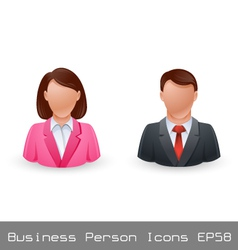 Business person avatar icons vector