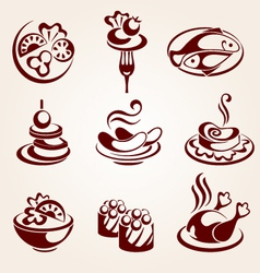 Food elements set vector