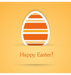 Happy easter attach sticker vector
