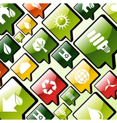 Green environment apps icons background vector