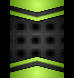 Dark perforated tech corporate background vector