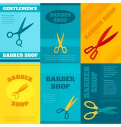 Barber poster set vector