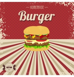 Retro fast food page template vector