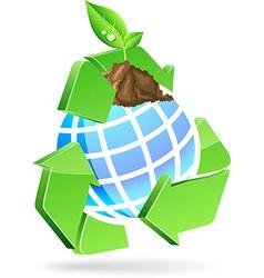 Save earth symbol vector