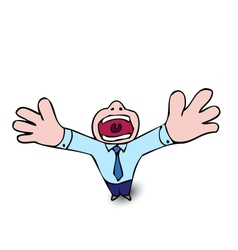 Crying businessman vector