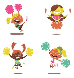 Cheerleader girls vector